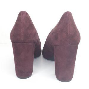 Nine West Shoes - Nine West Maroon Velvet Heels Pumps  Shoes NEW